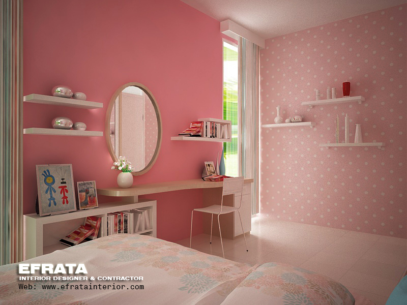 Kids Bed Room Pinky Style