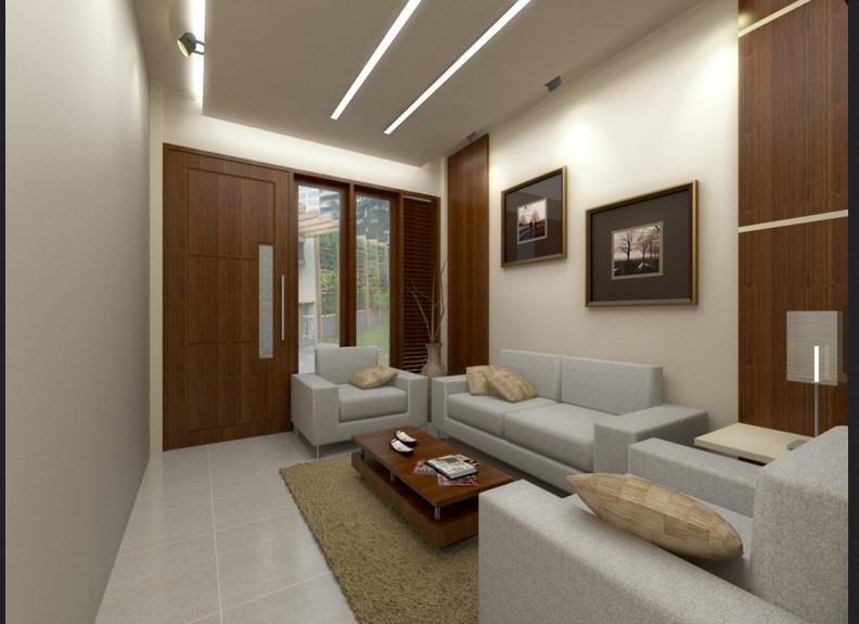 Interior Ruang Tamu Pada Desain Rumah Minimalis Type 36 2 Efrata Desain Kontraktor Interior Arsitek Arsitektur Semarang