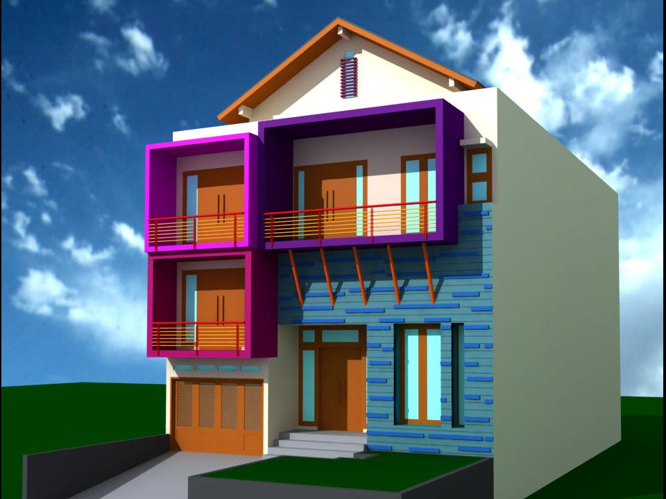 ini contoh desain eksterior rumah minimalis dengan 1