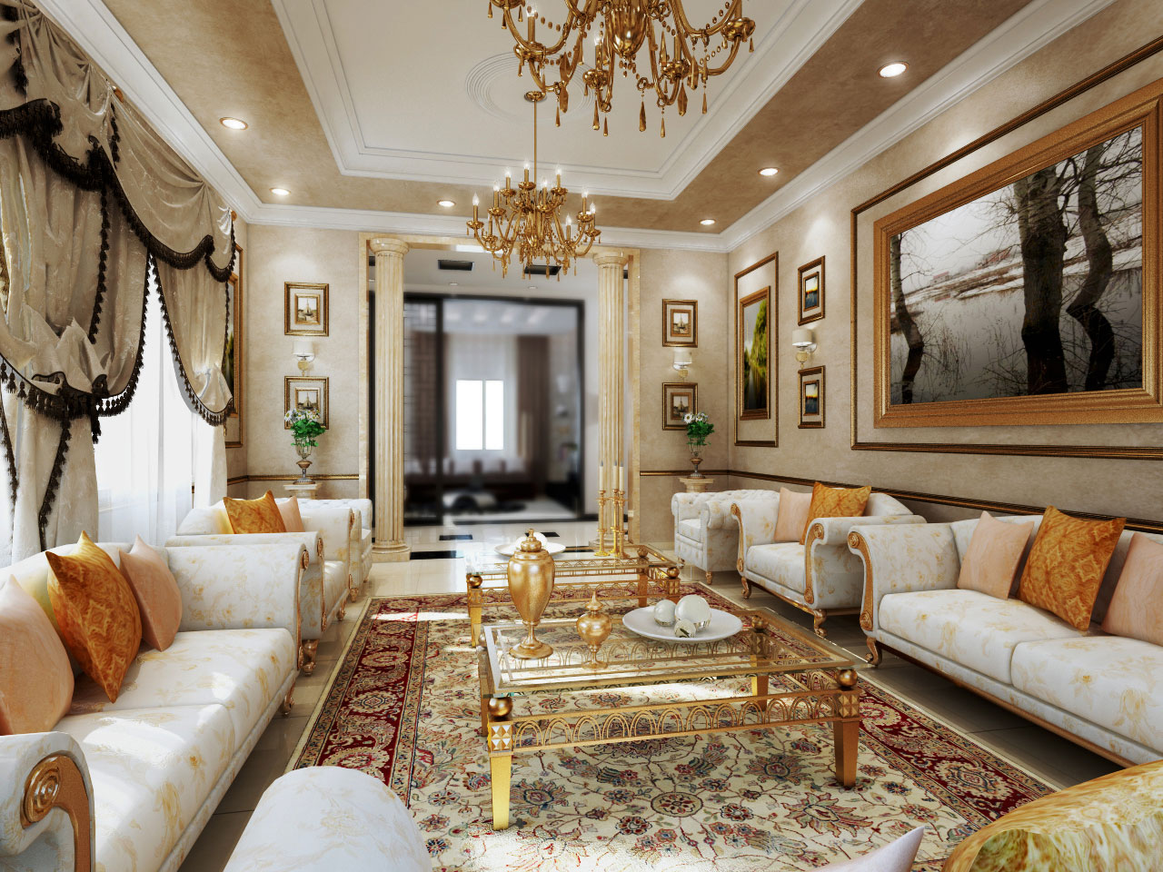 Luxury modern classic interior design ideas for living room