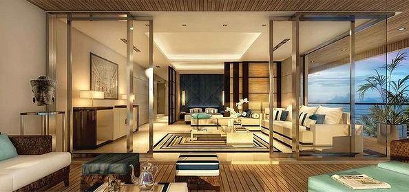 Desain Ruang Tamu Super Mewah isi dalam apartemen super mewah sea sentosa efrata desain