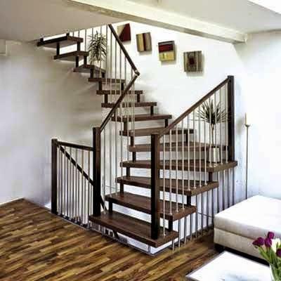tangga kayu rumah minimalis dua lantai - efrata desain