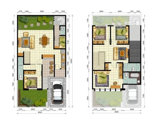Denah Rumah Minimalis 3 Kamar Tidur Tanpa Garasi denah rumah minimalis 2 lantai type 200 efrata desain